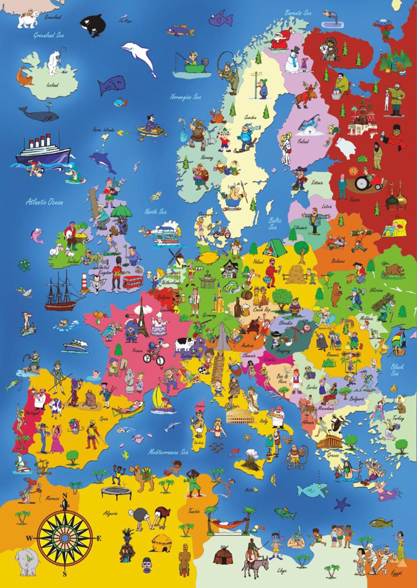 Europe Educational Jigsaw Puzzle