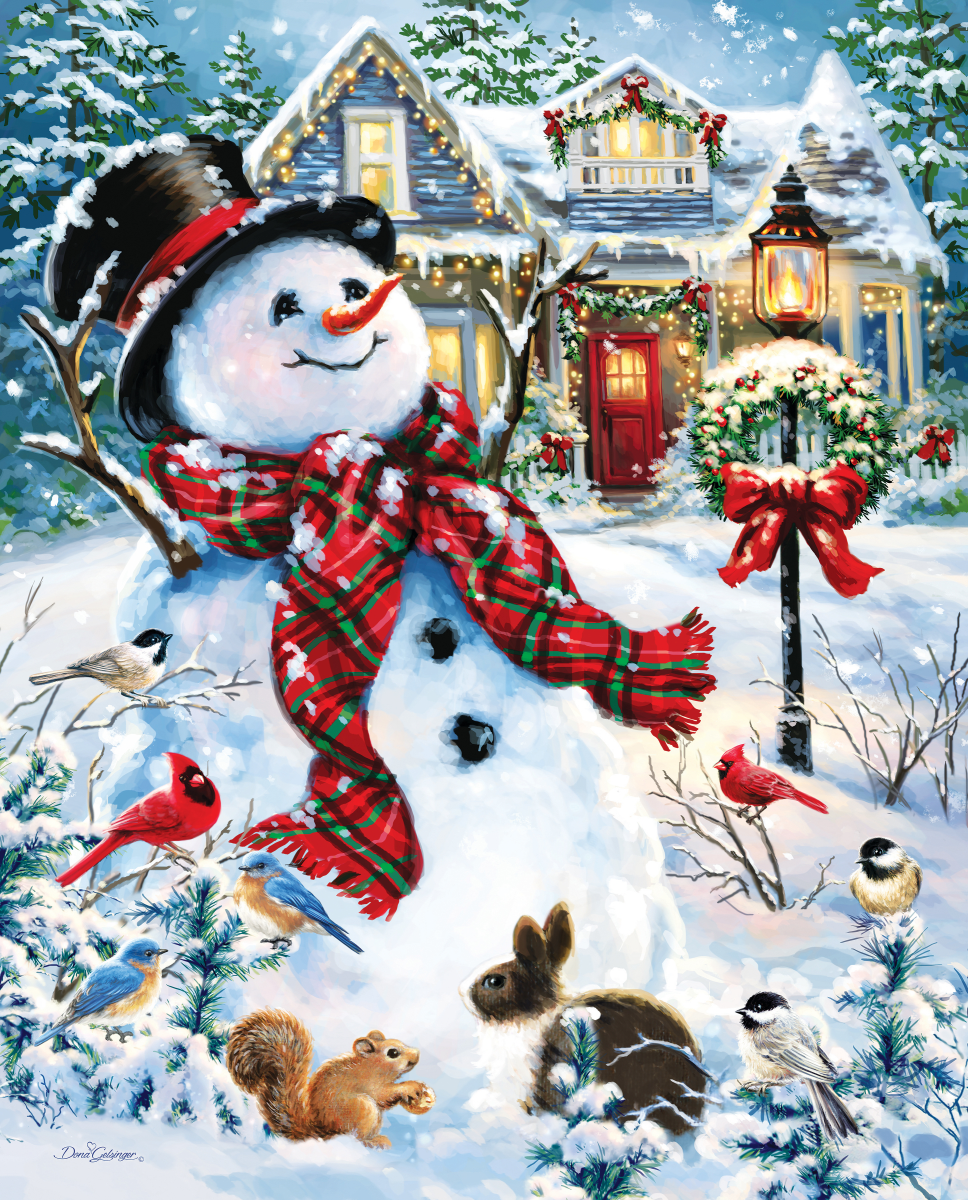 Old Fashioned Holiday Snowman Jigsaw Puzzle