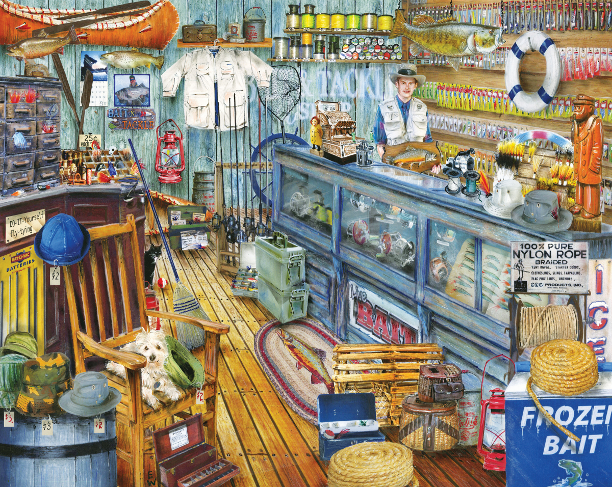 The Bait Shop Nostalgic / Retro Jigsaw Puzzle