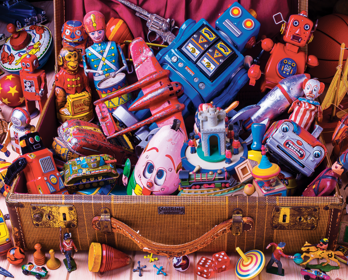 Toy Trunk Everyday Objects Jigsaw Puzzle