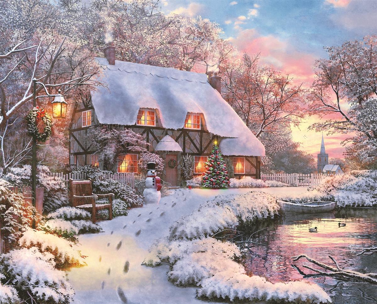 Winter Retreat Winter Jigsaw Puzzle
