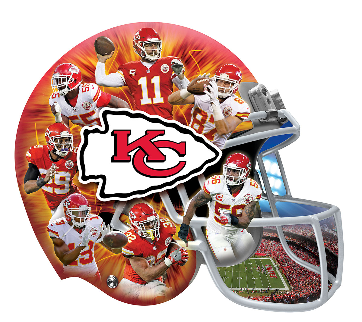 Kansas City Sports Shaped Puzzle