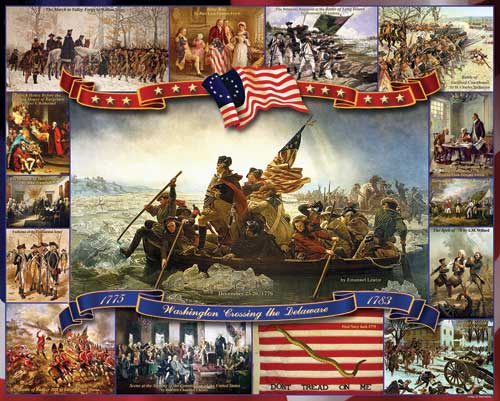 Washington Crossing Delaware Collage Jigsaw Puzzle