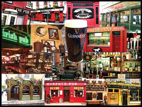 Irish Pubs - Scratch and Dent Food and Drink Jigsaw Puzzle