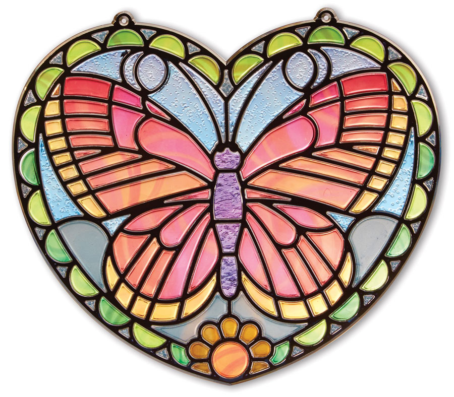 Stained Glass Butterfly | PuzzleWarehouse.com