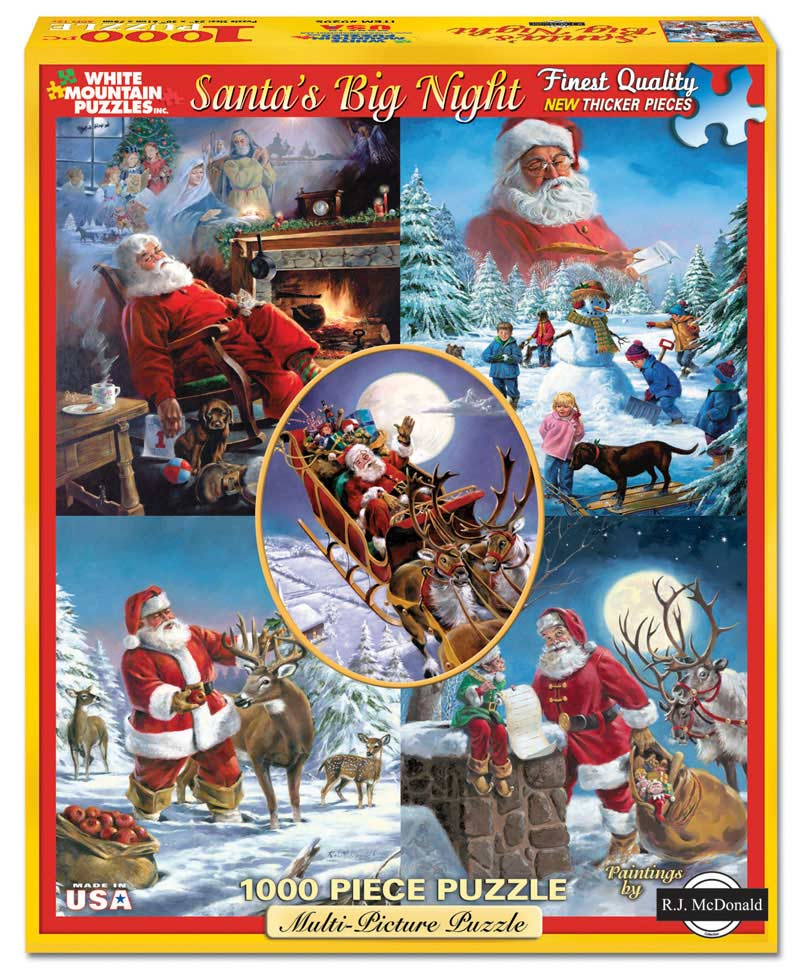 Santa's Big Night Santa Jigsaw Puzzle