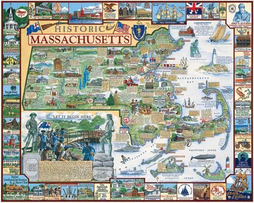 Historic Massachusetts Boston Jigsaw Puzzle