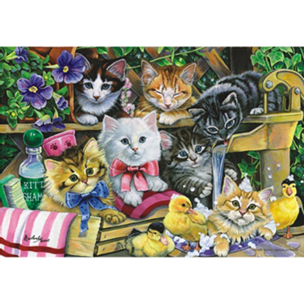 Bathtime Kittens Cats Jigsaw Puzzle