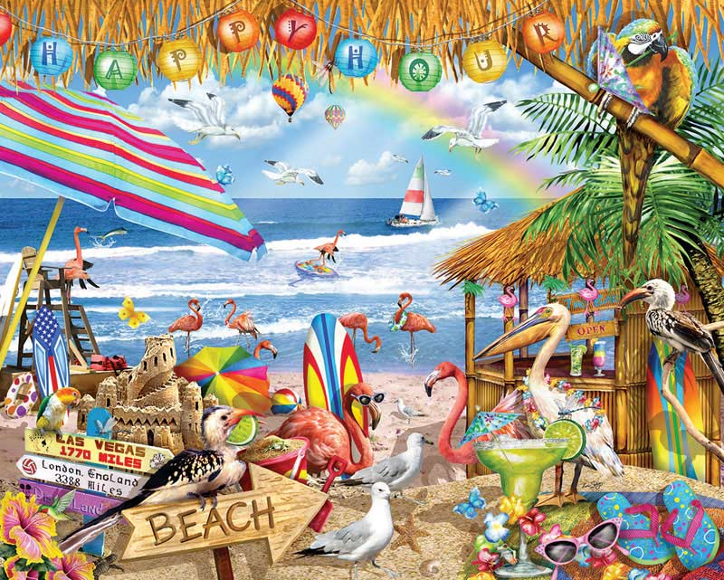 Happy Hour - Scratch and Dent Beach Jigsaw Puzzle