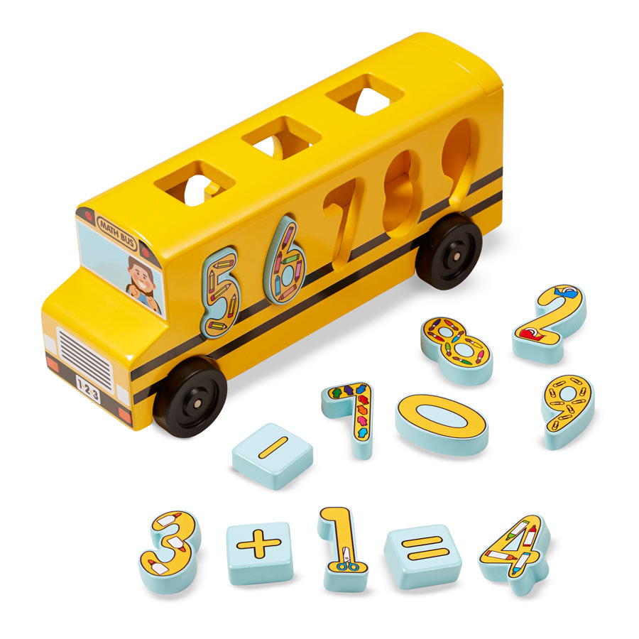 Number Matching Math Bus Pi Day