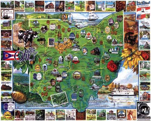 Best of Ohio Maps Jigsaw Puzzle
