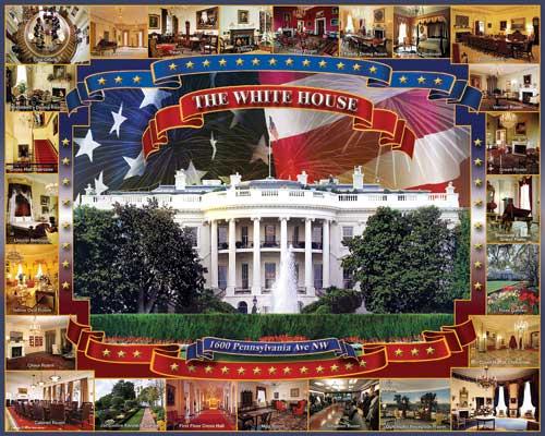 The White House Landmarks Jigsaw Puzzle