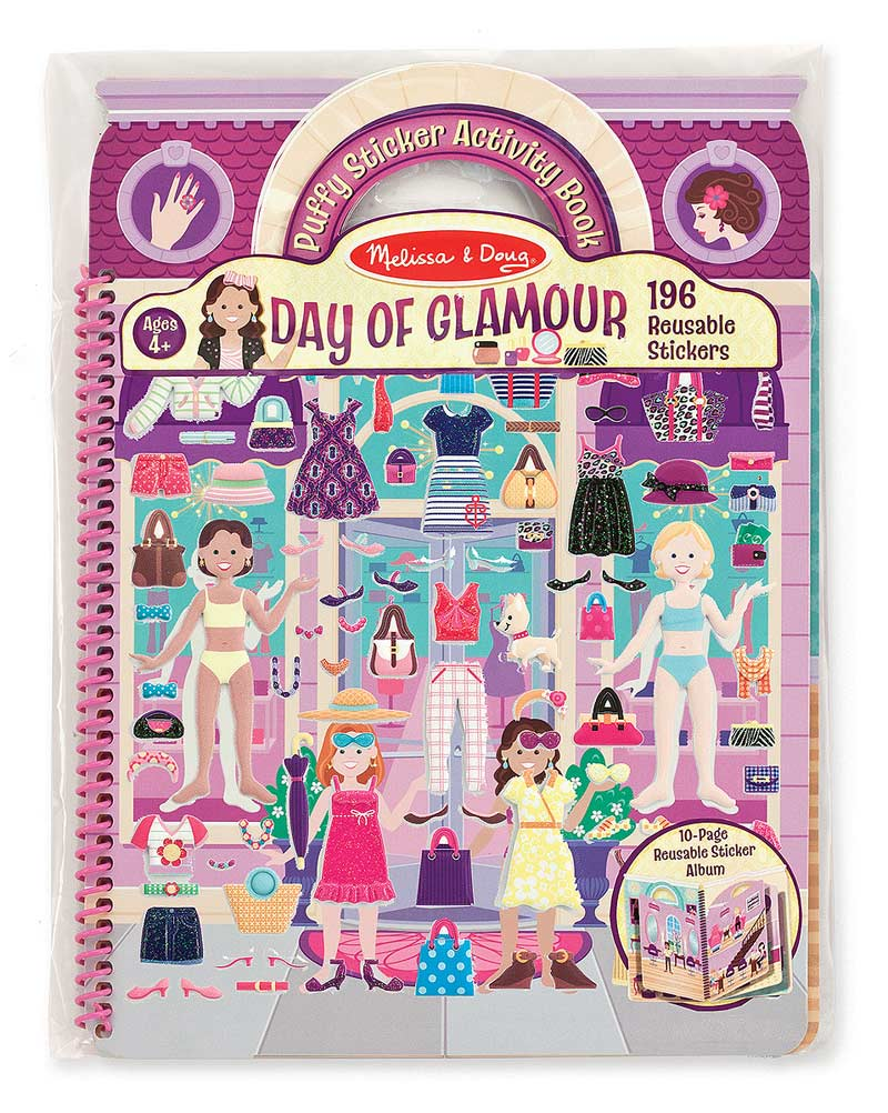 Day of Glamour Deluxe Puffy Sticker Album