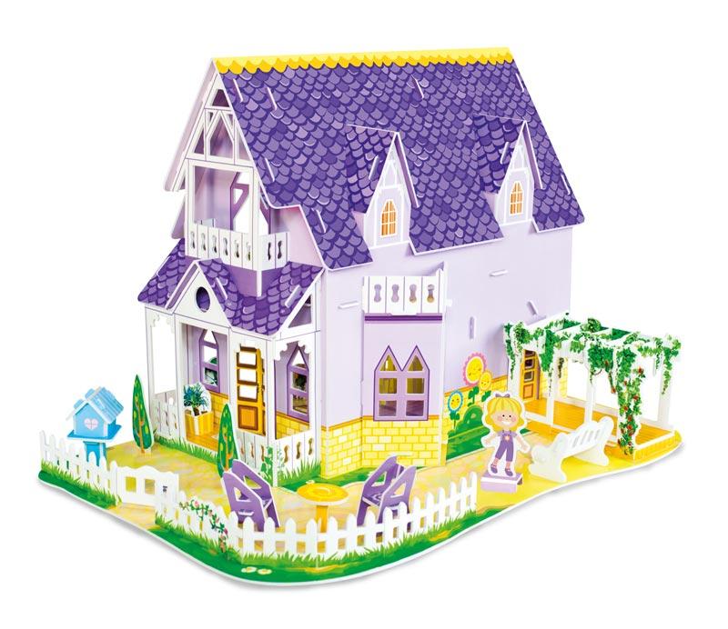 Pretty Purple Dollhouse Princess 3D Puzzle