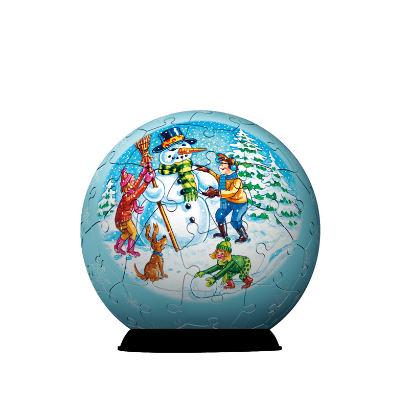 Puzzleball - Christmas 2 Snowman Jigsaw Puzzle