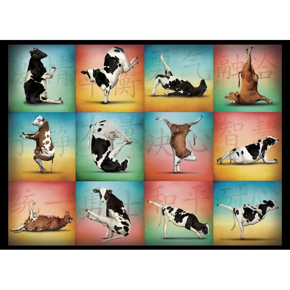 Cow Yoga - Scratch and Dent Farm Animals Jigsaw Puzzle