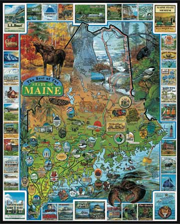 Best of Maine - Scratch and Dent Maps / Geography Jigsaw Puzzle