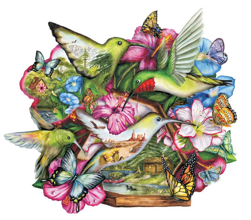 Flutterby Butterflies and Insects Jigsaw Puzzle