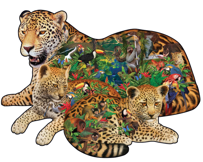 Rainforest Jaguar Jungle Animals Jigsaw Puzzle