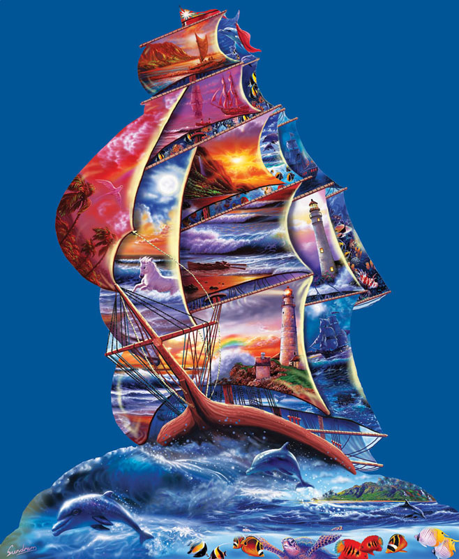 High Seas Boats Jigsaw Puzzle