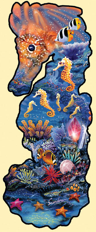 Horse of Jewels Under The Sea Jigsaw Puzzle