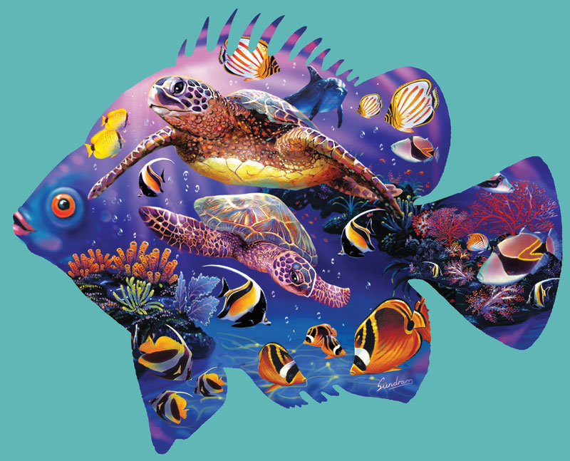 Friendly Seas Marine Life Jigsaw Puzzle