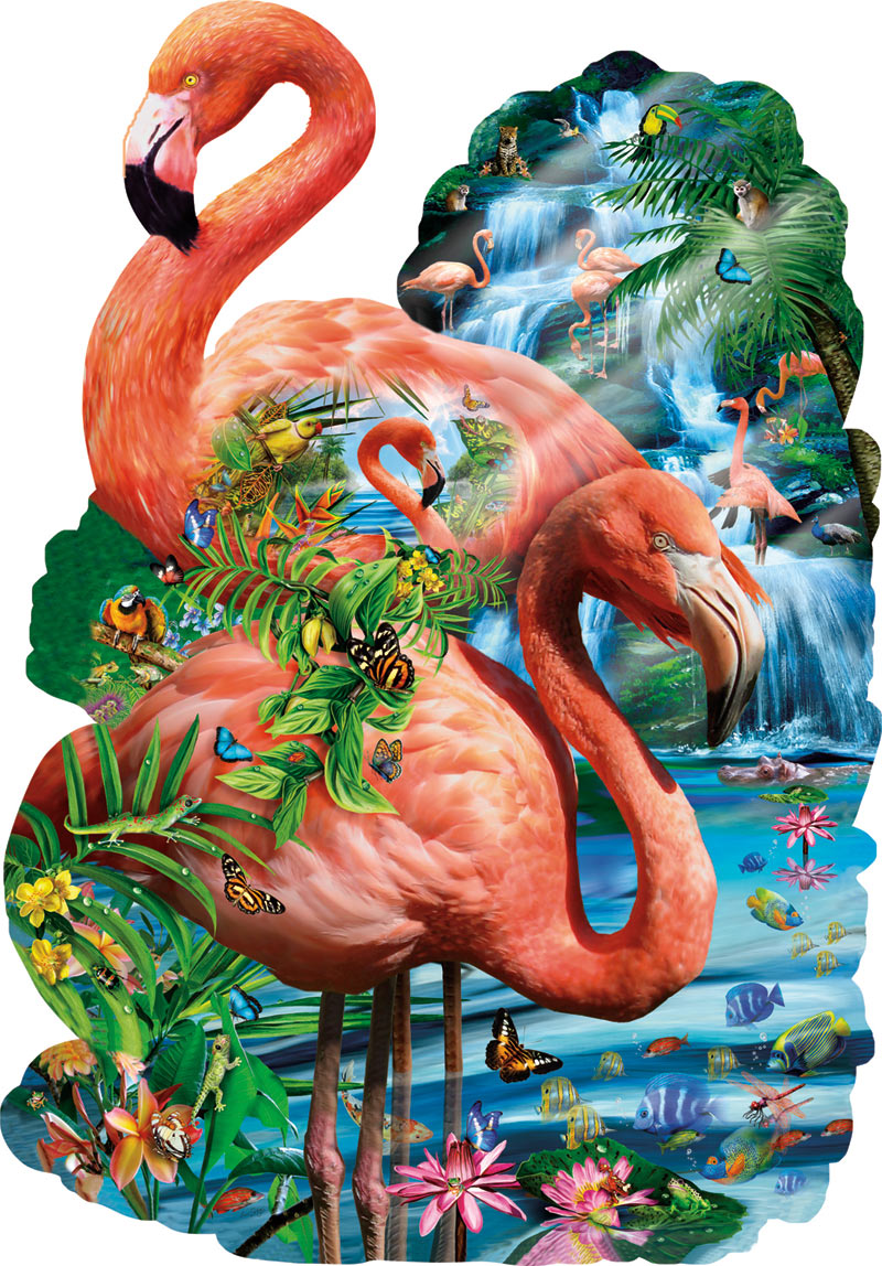 Wading Pool Birds Jigsaw Puzzle