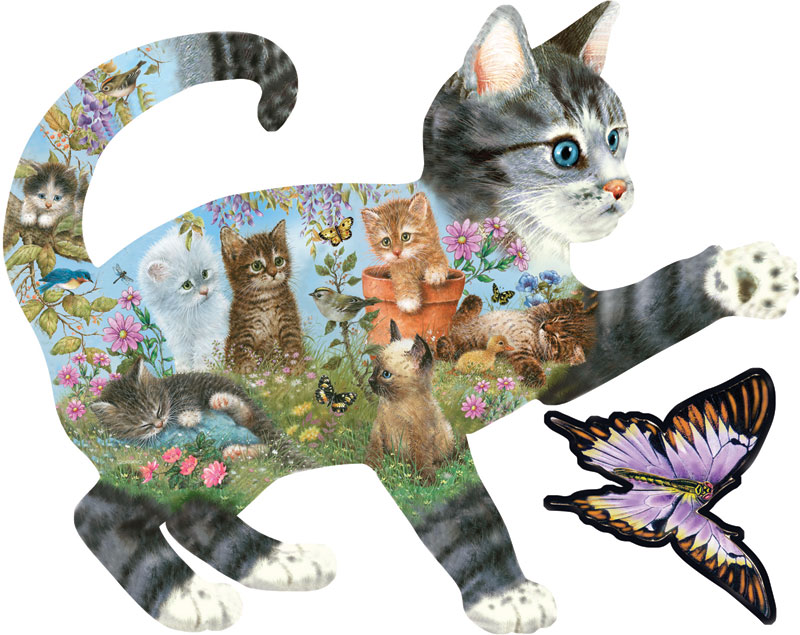 Kittens Delight Cats Jigsaw Puzzle