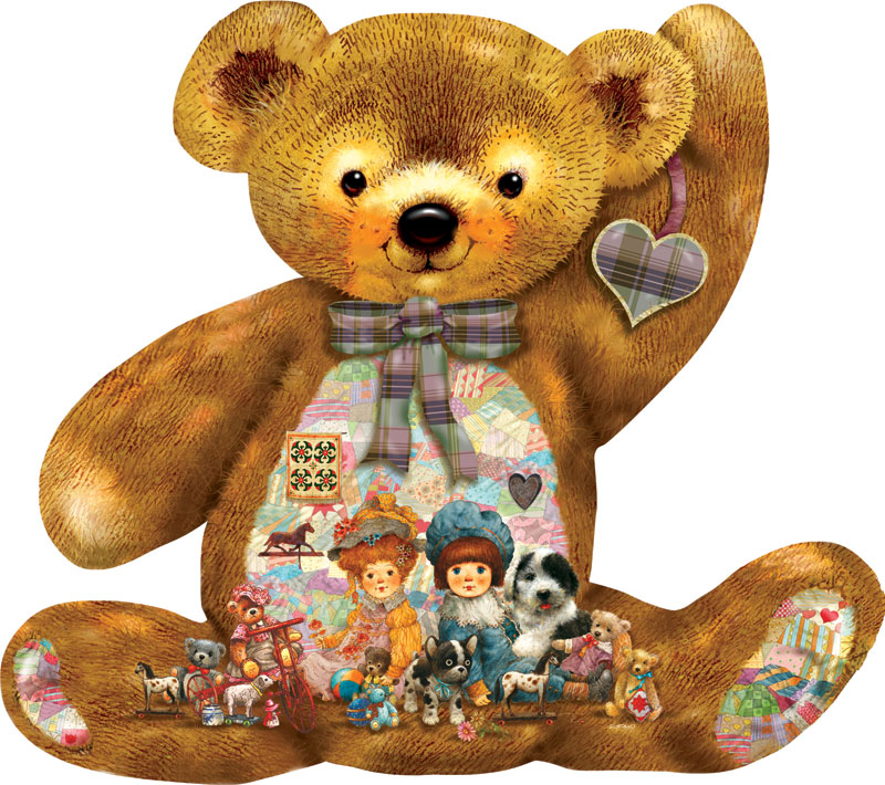 Quilted Teddy Quilting & Crafts Jigsaw Puzzle