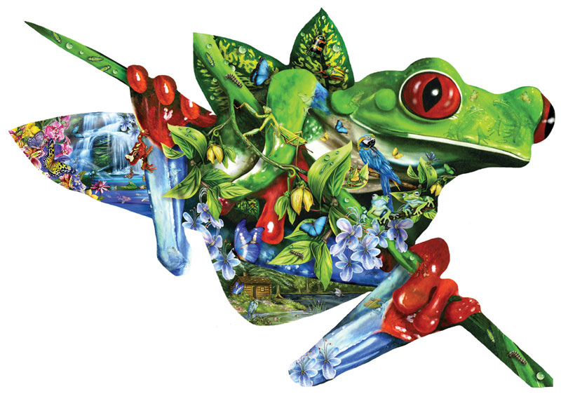 A Nest of Frogs Reptiles and Amphibians Jigsaw Puzzle
