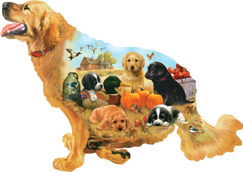 Training Days Dogs Jigsaw Puzzle