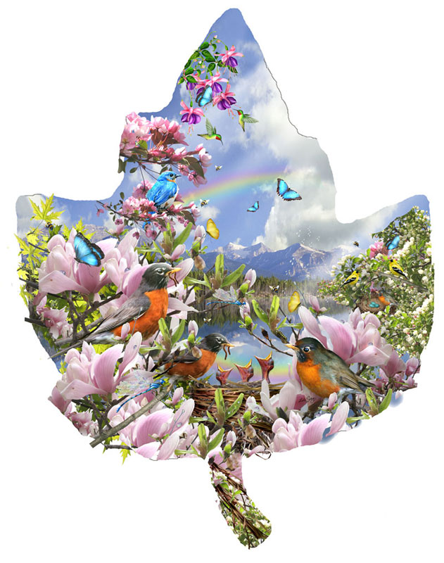 Signs of Spring Birds Jigsaw Puzzle