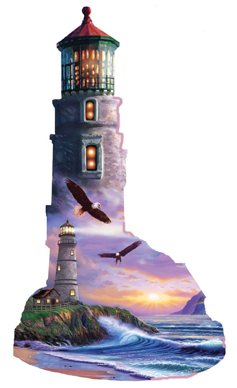 A View of the Sea Lighthouses Jigsaw Puzzle