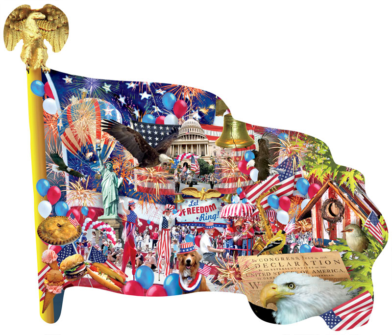 Freedom Parade Fourth of July Jigsaw Puzzle