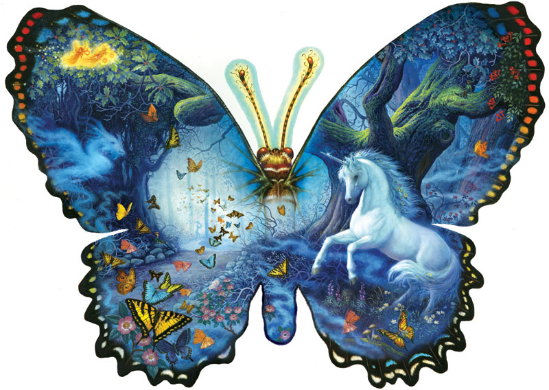 Fantasy Butterfly Butterflies and Insects Shaped Puzzle