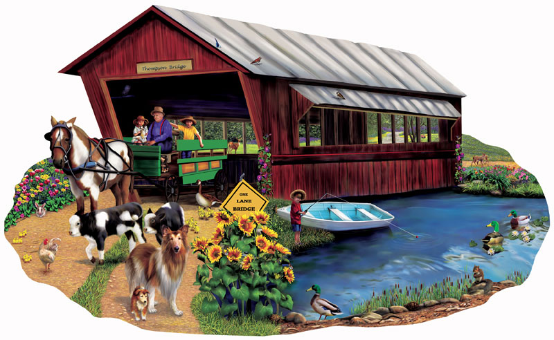 Going to Town Countryside Jigsaw Puzzle