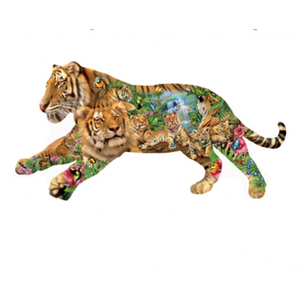 Cooling Off Jungle Animals Jigsaw Puzzle
