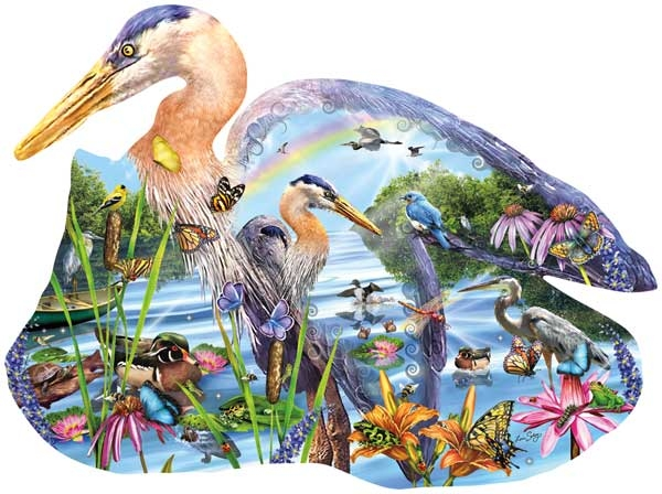 Wetland Wonders Birds Jigsaw Puzzle