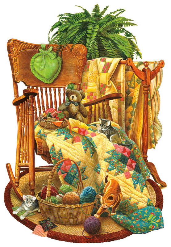 On the Rocker Quilting & Crafts Jigsaw Puzzle