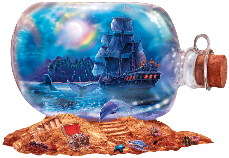 Run Aground Beach Shaped Puzzle