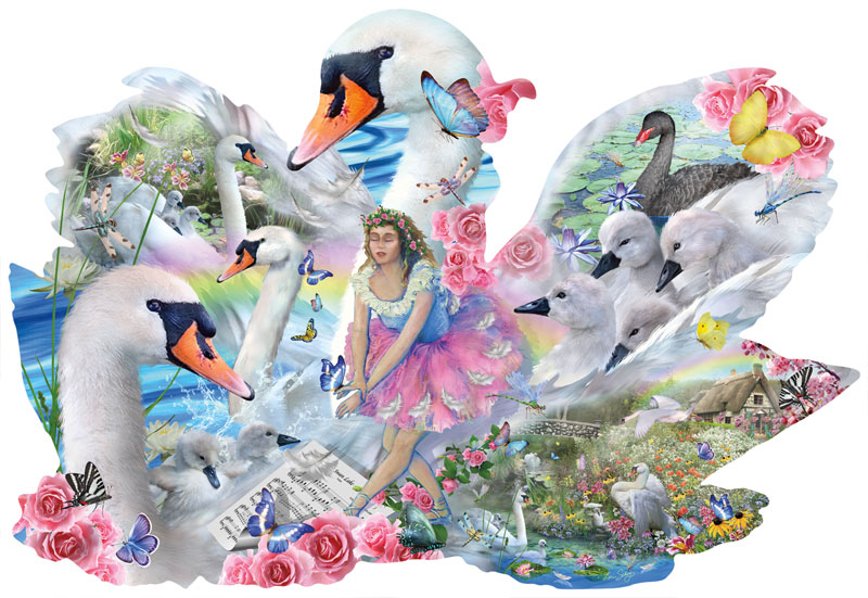 Swan Lake Birds Jigsaw Puzzle