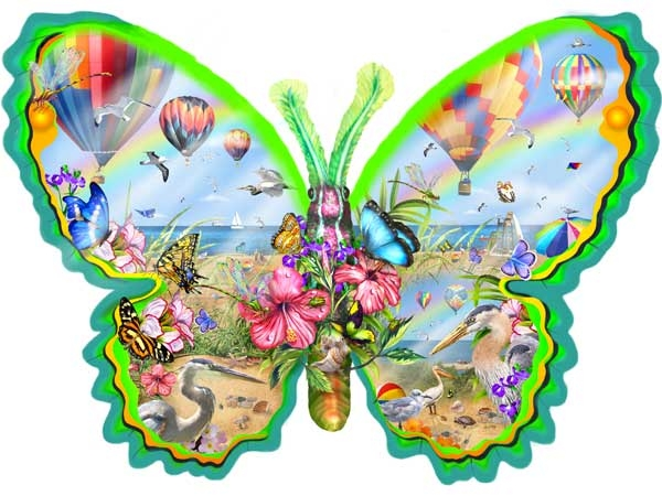 Flying High Butterflies and Insects Jigsaw Puzzle