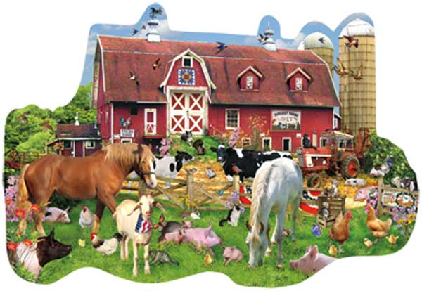 Summer Barn Farm Jigsaw Puzzle