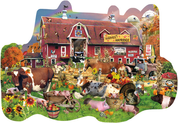 Countryside Fall Farm Jigsaw Puzzle