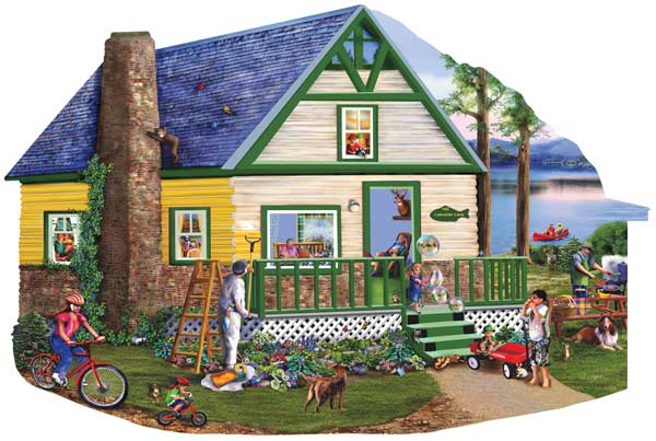 Lakeside Lane Countryside Jigsaw Puzzle