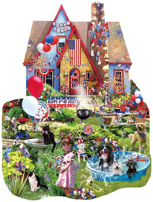Home on the 4th of July Fourth of July Jigsaw Puzzle