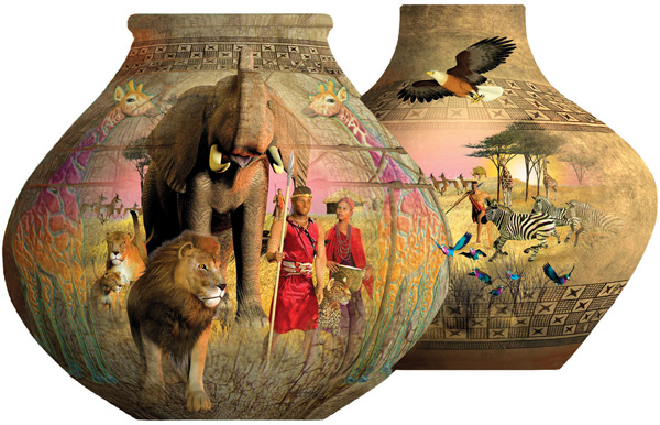 African Pots Africa Jigsaw Puzzle
