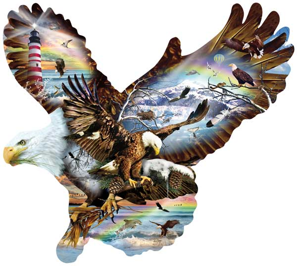 Eagle Eye Eagles Shaped Puzzle