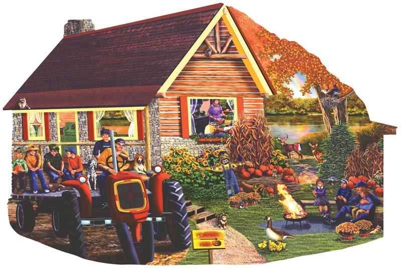 Mountain High Pumpkin Patch Countryside Jigsaw Puzzle