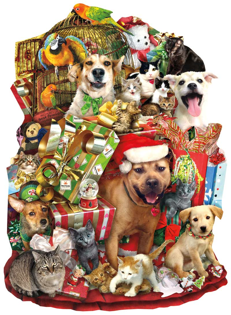 A Pile of Presents Dogs Shaped